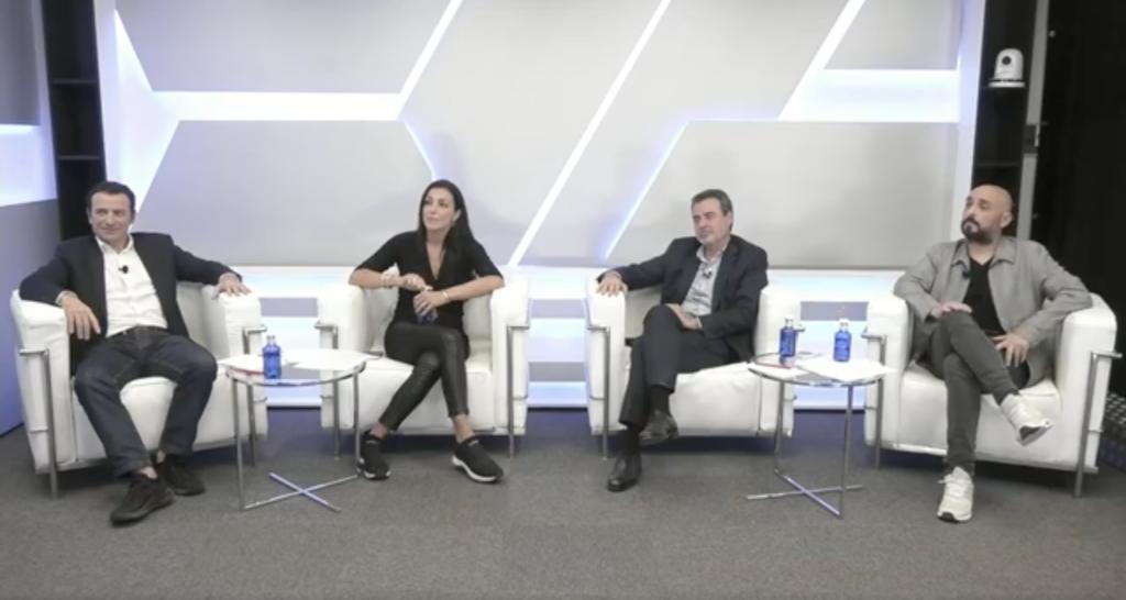 Panel de expertos, en orden por la izquierda: Pablo Viñaspre, Cristina Rueff, Carlos Gonzalvo y Toni Tugores.